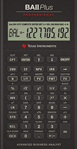 CFA Calculator Texas Instruments BA II Plus Professional Financial Calculator (IIBAPRO/TBL/1L1)